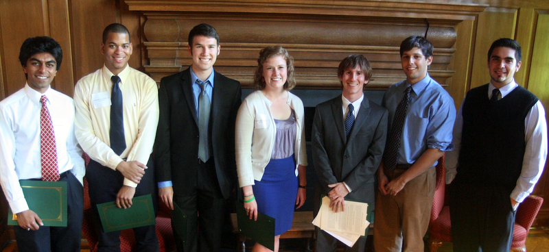 2012 speech competition finalists