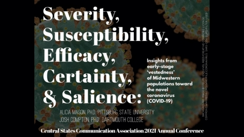 """Compton awarded honor for paper: """"Severity, susceptibility, efficacy, certainty and salience"""""""